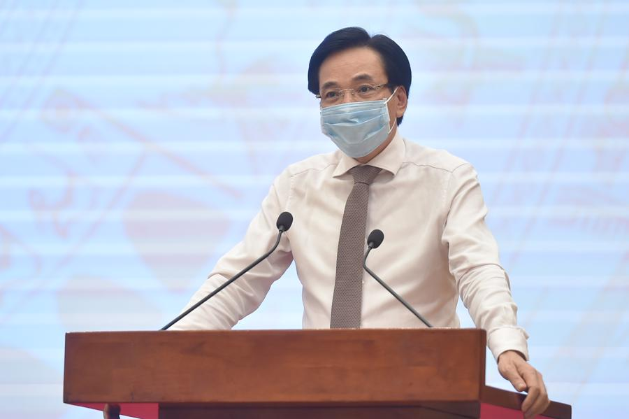Bộ trưởng, Chủ nhiệm VPCP Trần Văn Sơn, Người phát ngôn của Chính phủ tại họp báo - Ảnh: VGP
