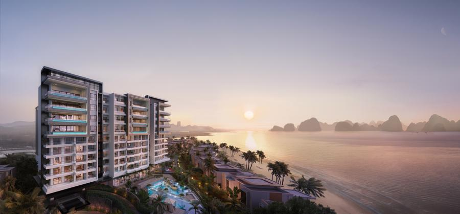 Phối cảnh dự án InterContinental Halong Bay Resort & Residences.