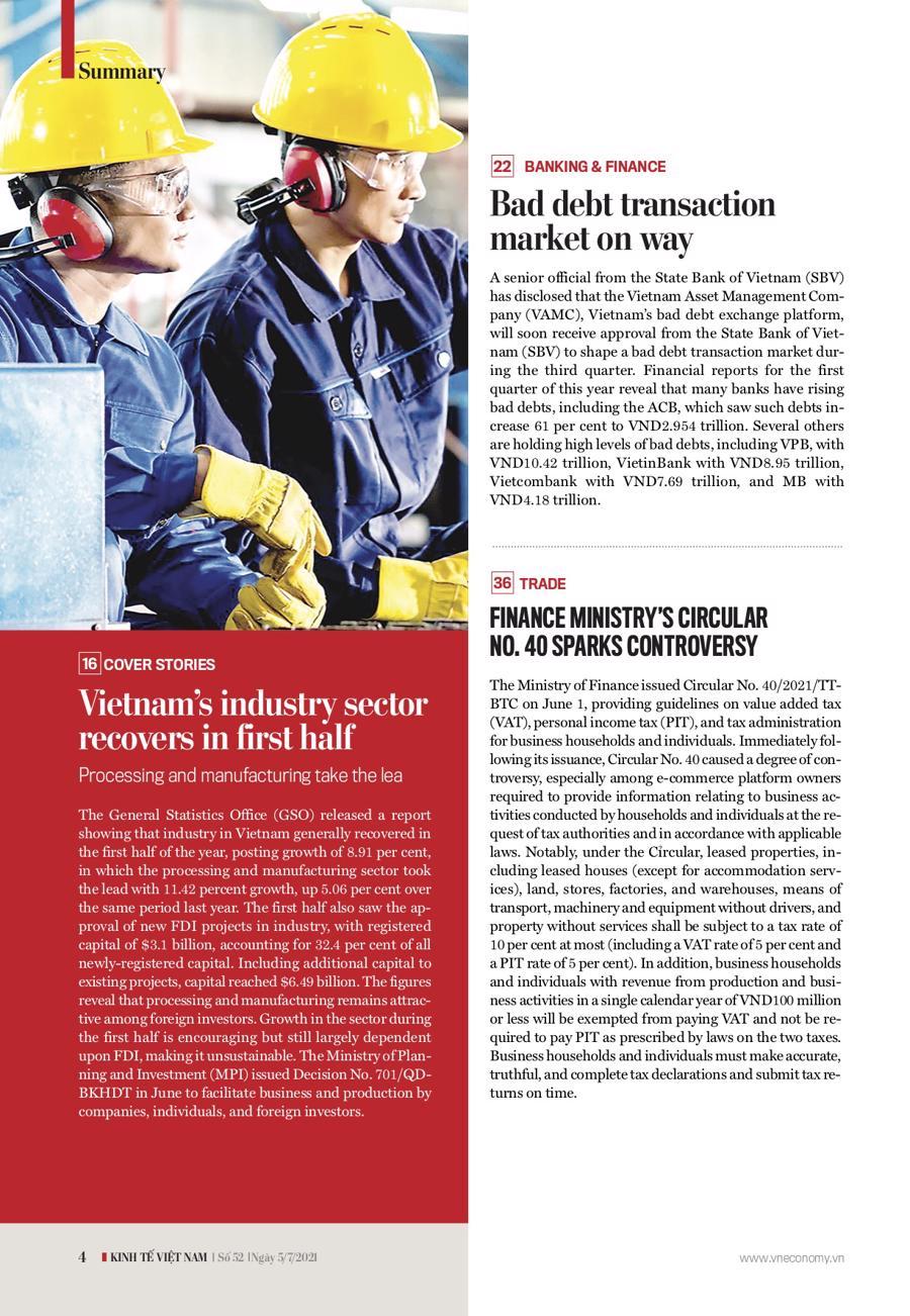 Đón đọc Kinh tế Việt Nam bộ mới số 52-2021 - Ảnh 1