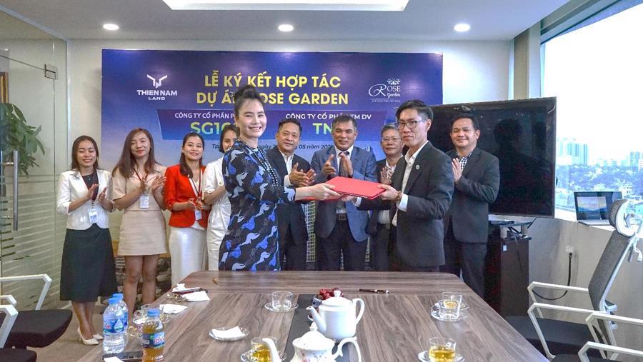 Buổi Lễ ký kết hợp tác dự án Rose Garden giữa Công ty TN9 và Thiên Nam Land.