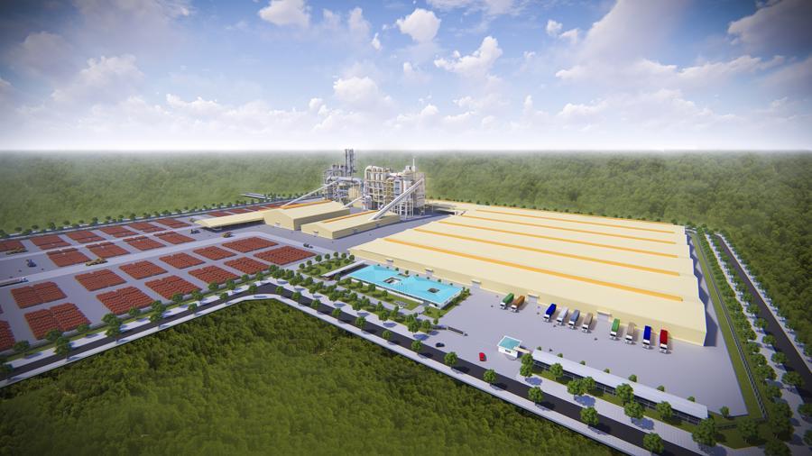 Phối cảnh nhà máy MDF tại khu công nghiệp Dầu Giây.
