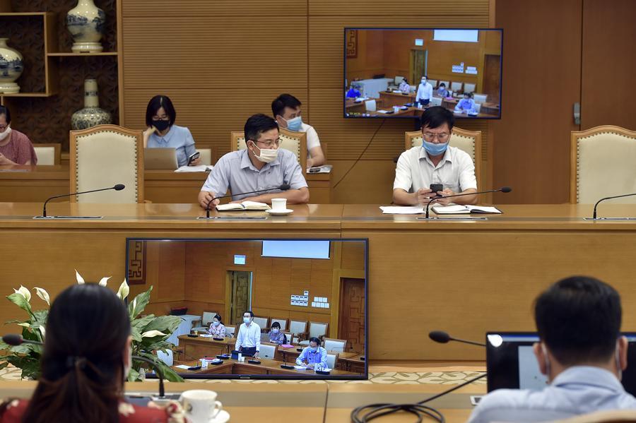 Đây là buổi làm việc thứ 3 của Phó Thủ tướng Vũ Đức Đam với TP.HCM trong 2 ngày 5-6/7. Ảnh - VGP.