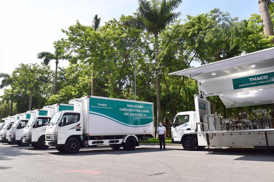126 xe chuyên dụng vận chuyển vaccine và tiêm chủng lưu động hỗ trợ công tác phòng chống dịch Covid-19.