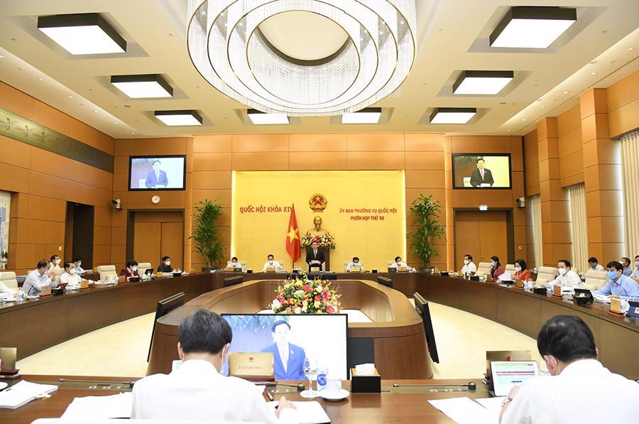 Khai mạc phiên họp thứ 58 của Ủy ban Thường vụ Quốc hội - Ảnh: Quochoi.vn