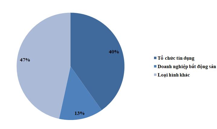 Tổ chức tín dụng là nhà phát hành lớn nhất, chiếm 40,2% tổng khối lượng .