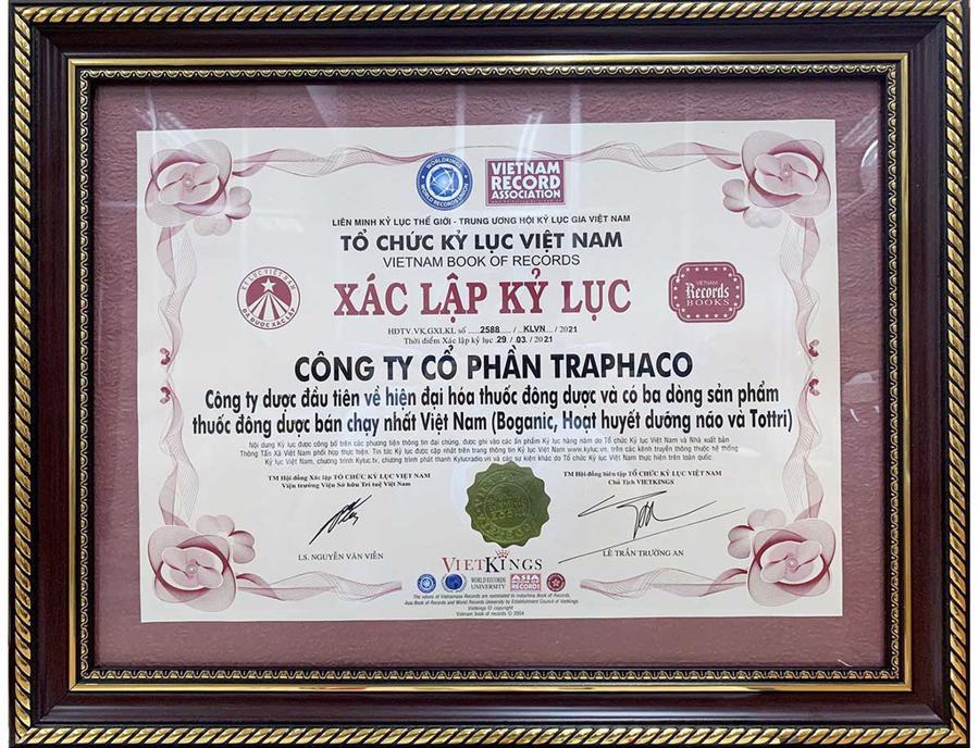Tottri lập Kỷ lục là thuốc điều trị trĩ bán chạy nhất Việt Nam (năm 2021).