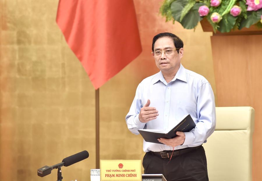 Thủ tướng Phạm Minh Chính tại hội nghị - Ảnh: VGP