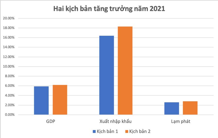 CIEM dự báo hai kịch bản tăng trưởng kinh tế 2021 - Ảnh 1