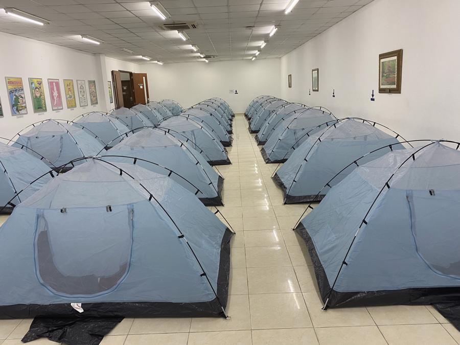 """Khu lưu trú của công nhân Nidec Việt Nam(Khu Công nghệ cao, TP Thủ Đức) trong thời gian thực hiện """"3 tại chỗ""""."""