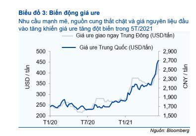 Vì đâu công ty chứng khoán đồng loạt nâng định giá cổ phiếu phân bón? - Ảnh 1