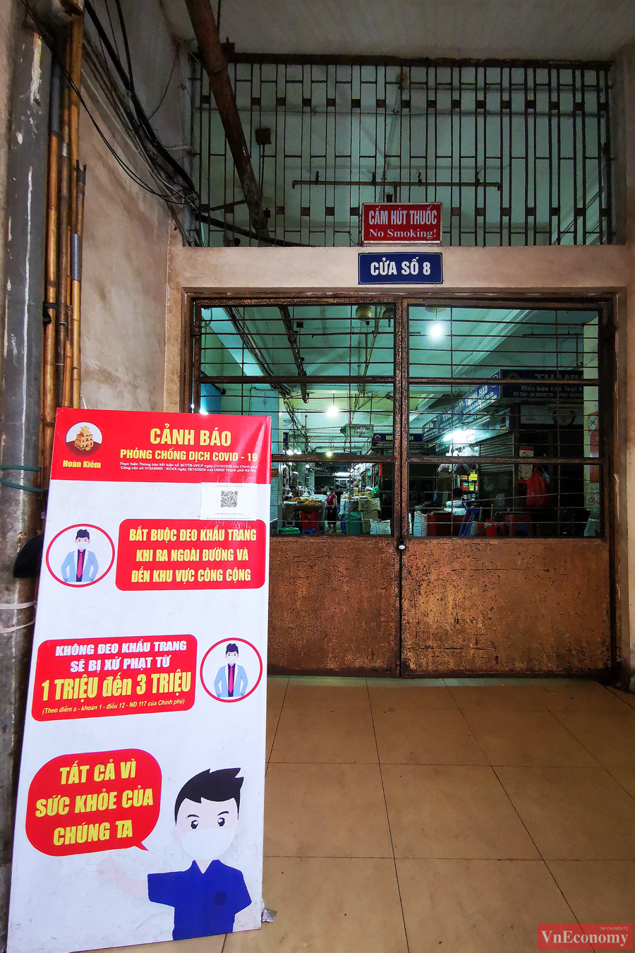 Hà Nội: 2.150 gian hàng chợ Đồng Xuân đóng cửa để phòng dịch - Ảnh 4