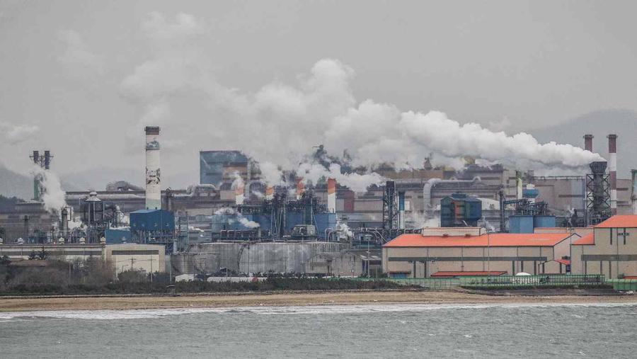 Một nhà máy thép của Posco ở Pohang, Hàn Quốc năm 2018 - Ảnh: Getty Images