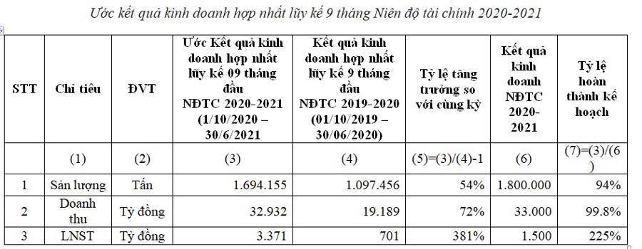 HSG: Quý 3 niên độ tài chính 2020-2021 đạt lợi nhuận sau thuế 1.701 tỷ đồng - Ảnh 2