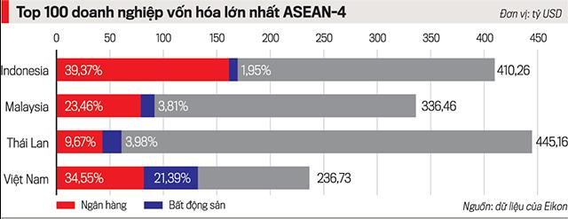 Thị trường chứng khoán Việt Nam: Ngân hàng và bất động sản quá cô đặc? - Ảnh 1