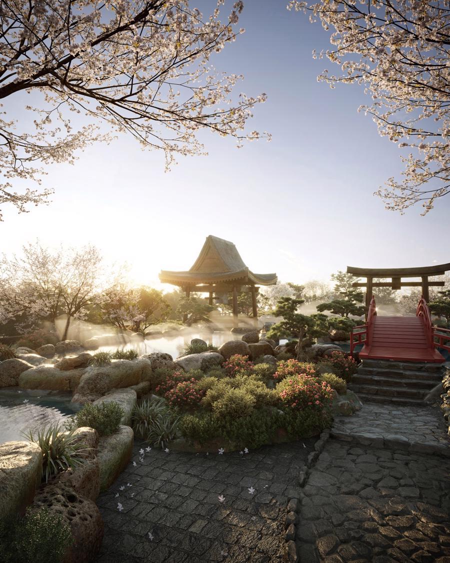 14 hồ khoáng nóng và Spa Swanlake Residences trong Ecopark.