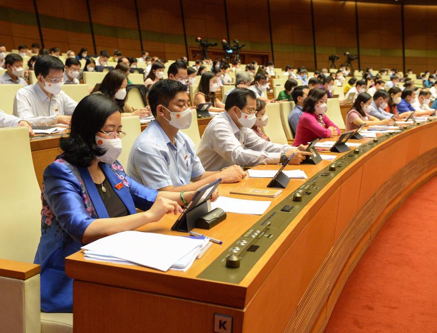 Các đại biểu Quốc hội tại phiên họp - Ảnh:Quochoi.vn