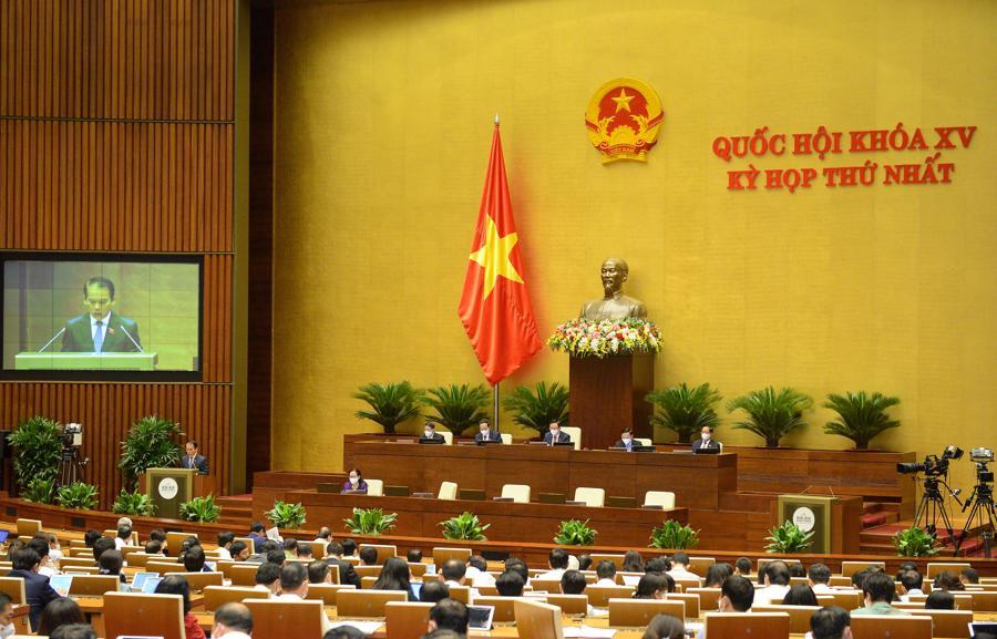 Quang cảnh phiên họp chiều 22/7 - Ảnh: Quochoi.vn