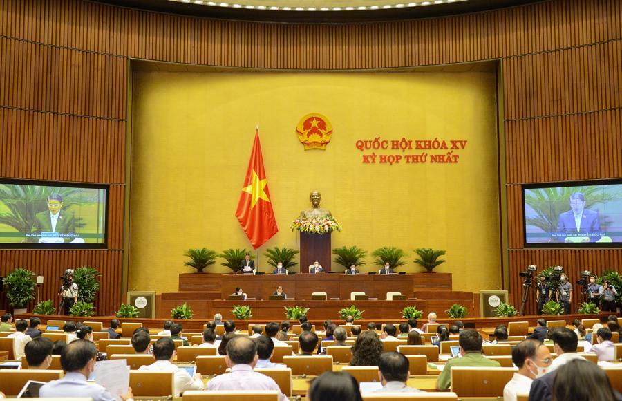 Phiên họp toàn thể của Quốc hội sáng ngày 22/7 - Ảnh: Quochoi.vn