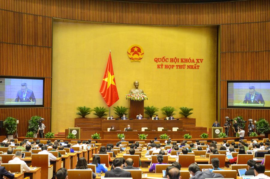 Quốc hội nghe báo cáo kiểm toán quyết toán ngân sách nhà nước năm 2019 - Ảnh: Quochoi.vn