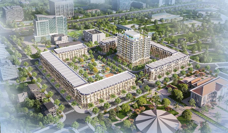 D'. Metropole Hà Tĩnh - công trình đầu tiên của Tập đoàn Tân Hoàng Minh tại Hà Tĩnh.