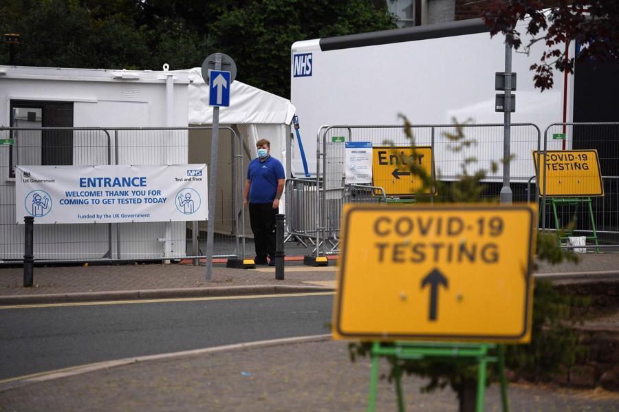 Một điểm xét nghiệm Covid-19 tạiCumbria, phía Tây Bắc Anh - Ảnh: Getty Images
