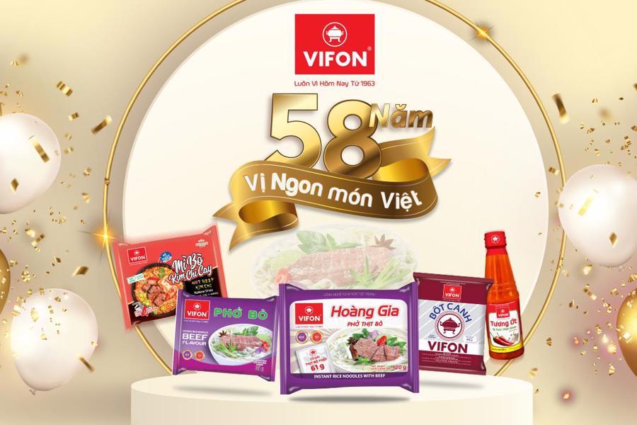 VIFON 58 năm lưu truyền Vị ngon món Việt.