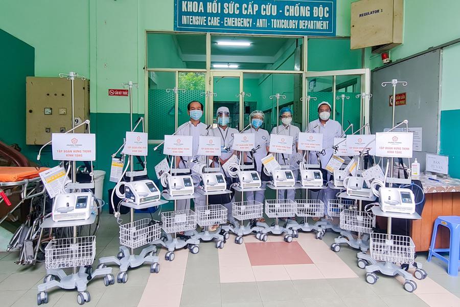 Các máy thở oxy dòng cao không xâm lấn giúp hỗ trợ hiệu quả trong công tác điều trị Covid-19.