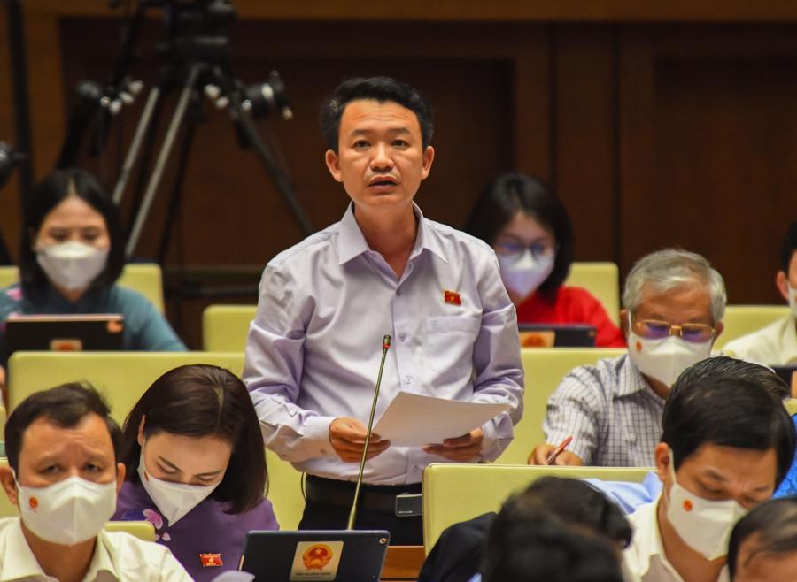 Đại biểu Trần Quang Minh phát biểu tại phiên họp - Ảnh: Quochoi.vn