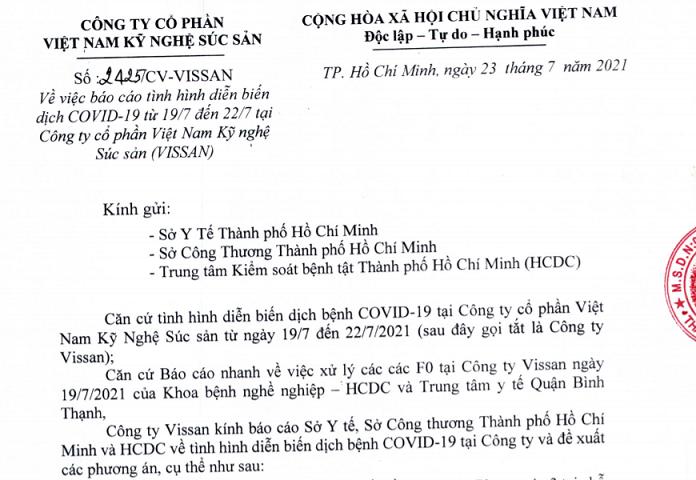 Vissan đề xuất hai phương án xử lý dịch bệnh tại Công ty - Ảnh 1