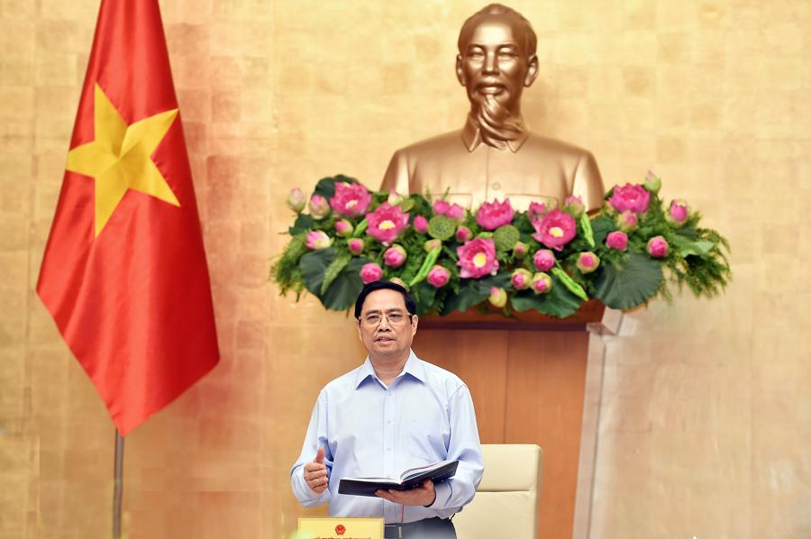 Thủ tướng Phạm Minh Chính tại cuộc họp - Ảnh: VGP.