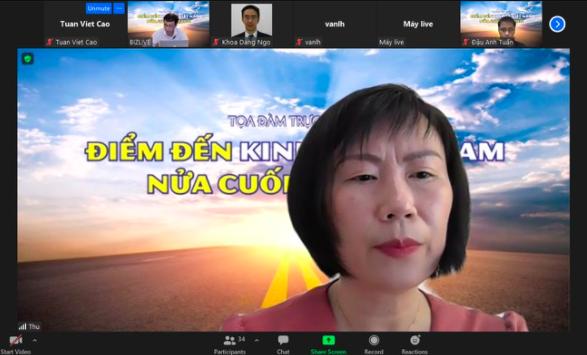 Bà Nguyễn Hoài Thu, Giám đốc điều hành Khối Đầu tư chứng khoán và trái phiếu - VinaCapital.