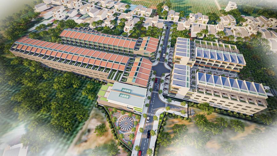 Phối cảnh dự án Nam An Ecotown Phan Thiết đang hút các nhà đầu tư phía Bắc.