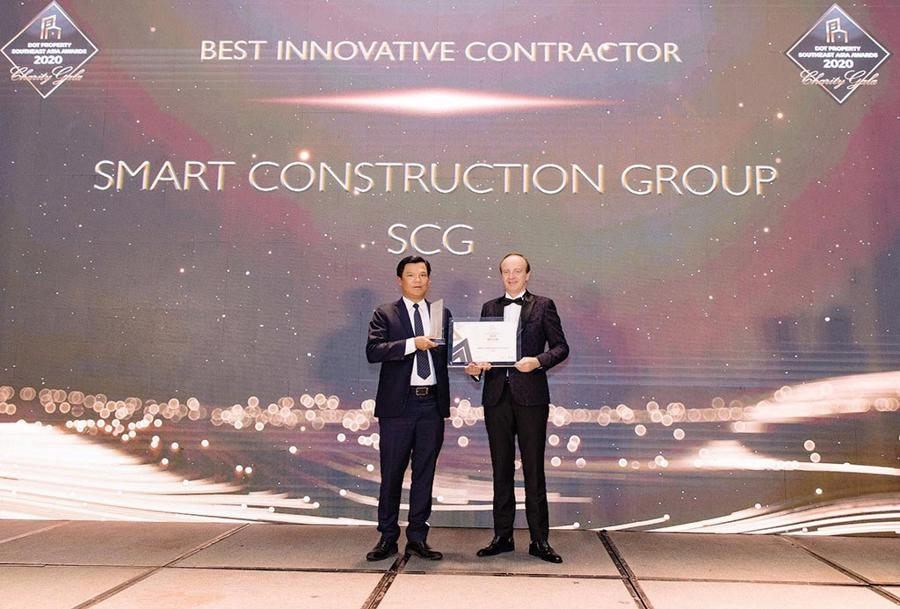 Vượt qua nhiều tên tuổi trong ngành, SCG được vinh danh là Nhà thầu xây dựng đột phá nhất Đông Nam Á 2020.