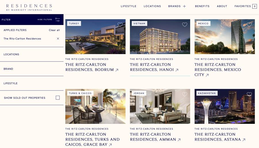 Khu căn hộ hàng hiệu Ritz-Carlton, Hanoi xuất hiện giữa các dự án bất động sản hàng hiệu của Marriott International.