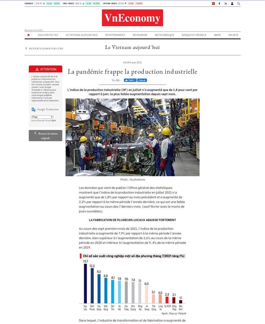 Tạp chí Kinh tế Việt Nam - VnEconomy ra mắt phiên bản tiếng Anh điện tử - Ảnh 1