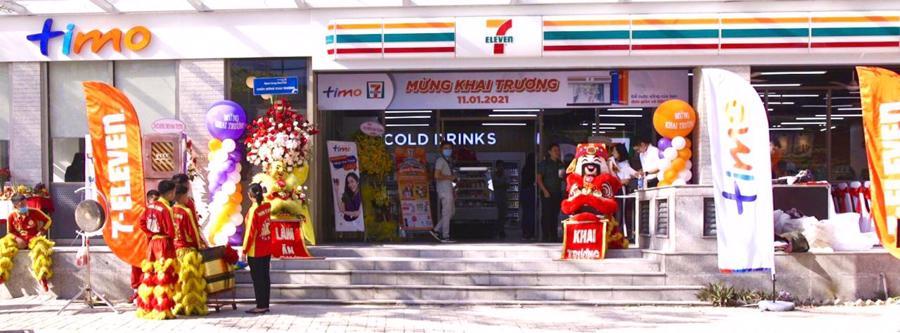 """Ngân hàng số Timo hợp tác chiến lược đặt mô hình """"hangout"""" giúp nhanh chóng """"phủ sóng"""" hiện diện tại hệ thống cửa hàng tiện lợi của 7-Eleven Việt Nam."""
