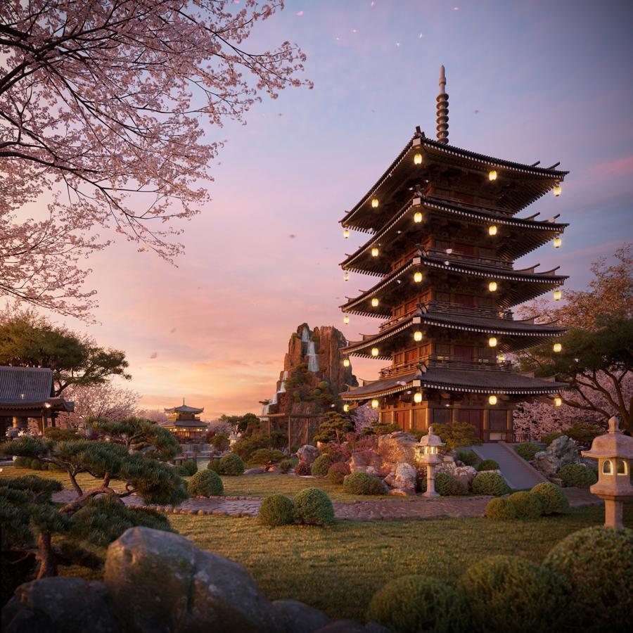Vườn Nhật The Landmark