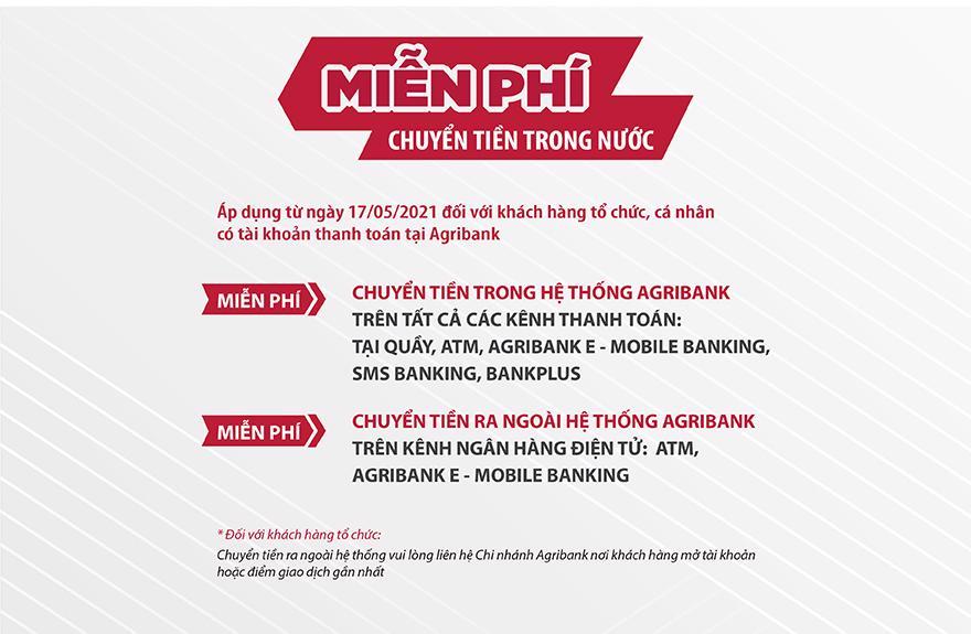 Agribank đồng loạt miễn, giảm các loại phí dịch vụ - Ảnh 1
