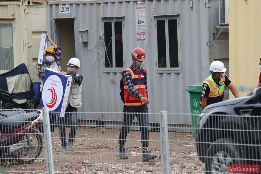 Thăm công trường xây dựng Bệnh viện dã chiến 500 giường của Hà Nội - Ảnh 5