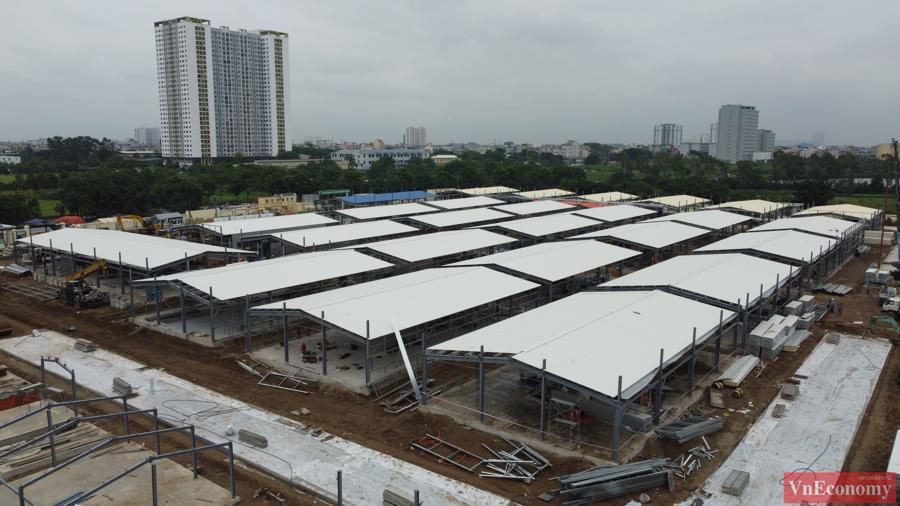 Thăm công trường xây dựng Bệnh viện dã chiến 500 giường của Hà Nội - Ảnh 3