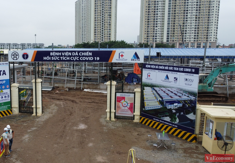 Thăm công trường xây dựng Bệnh viện dã chiến 500 giường của Hà Nội - Ảnh 2