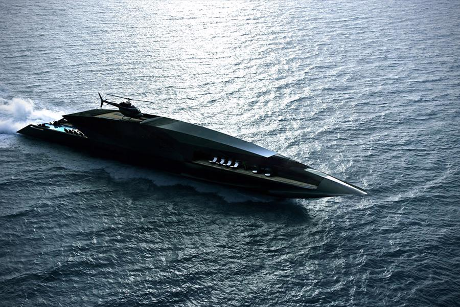 Black Swan gợi cảm giác như một vật thể bí ẩn sắp biến mất vào đại dương.