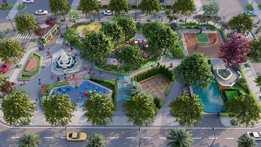 Không gian sống xanh tại với cảnh quan thiên nhiên phong phú tại D'. Metropole Hà Tĩnh.