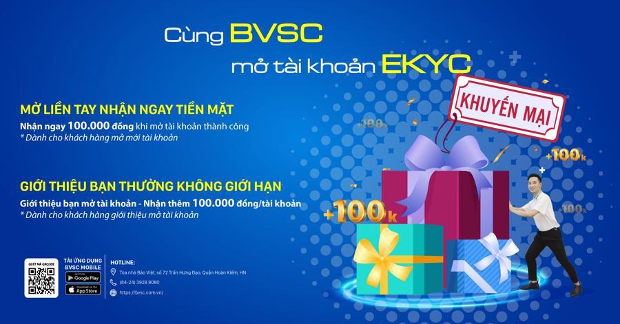 Chương trình khuyến mại hấp dẫn nhân dịp ra mắt eKYC của BVSC.