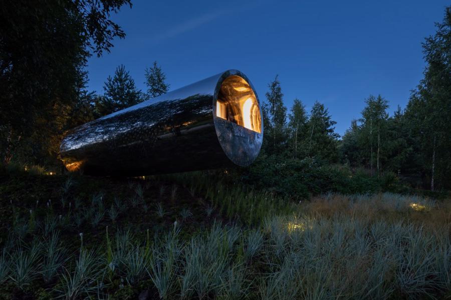 Ngôi nhà trong ống thép gây chú ý tại lễ hội kiến trúc – điêu khắc Nga - Ảnh 1