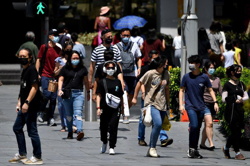 """Singapore đang từng bước triển khai kế hoạch """"sống chung với Covid"""" - Ảnh: Straits Times."""