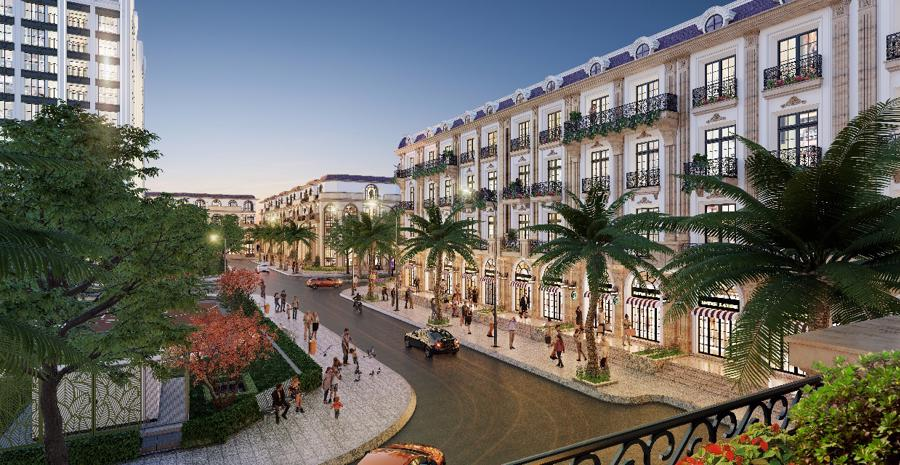 100% Shophouse D'. Metropole Hà Tĩnh sở hữu 2-3 mặt tiền.