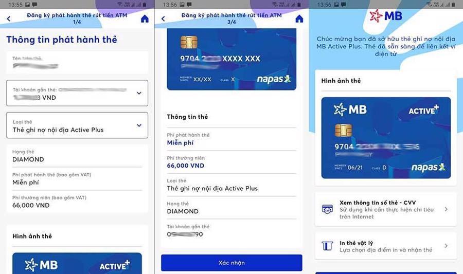 Thẻ được phát hành trực tuyến siêu tốc - hoàn toàn miễn phí ngay trên App MBBank.