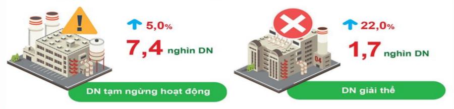 Tình hình doanh nghiệp 7 tháng năm 2021. Nguồn: Cục Thống kê TP. Hà Nội.