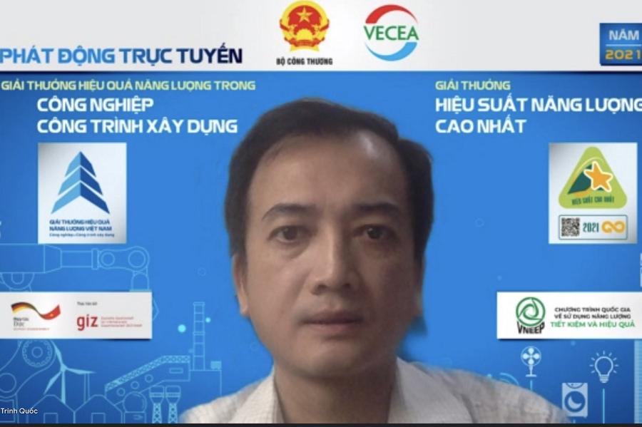 Ông Trịnh Quốc Vũ, Phó Vụ trưởng Vụ Tiết kiệm năng lượng và Phát triển bền vững (Bộ Công Thương)